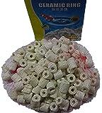 Superaqua Aquarium Ceramic Bio Rings Filter Premium Ceramic Rings Media for All Types of Fish Tanks and Ponds, 500 g