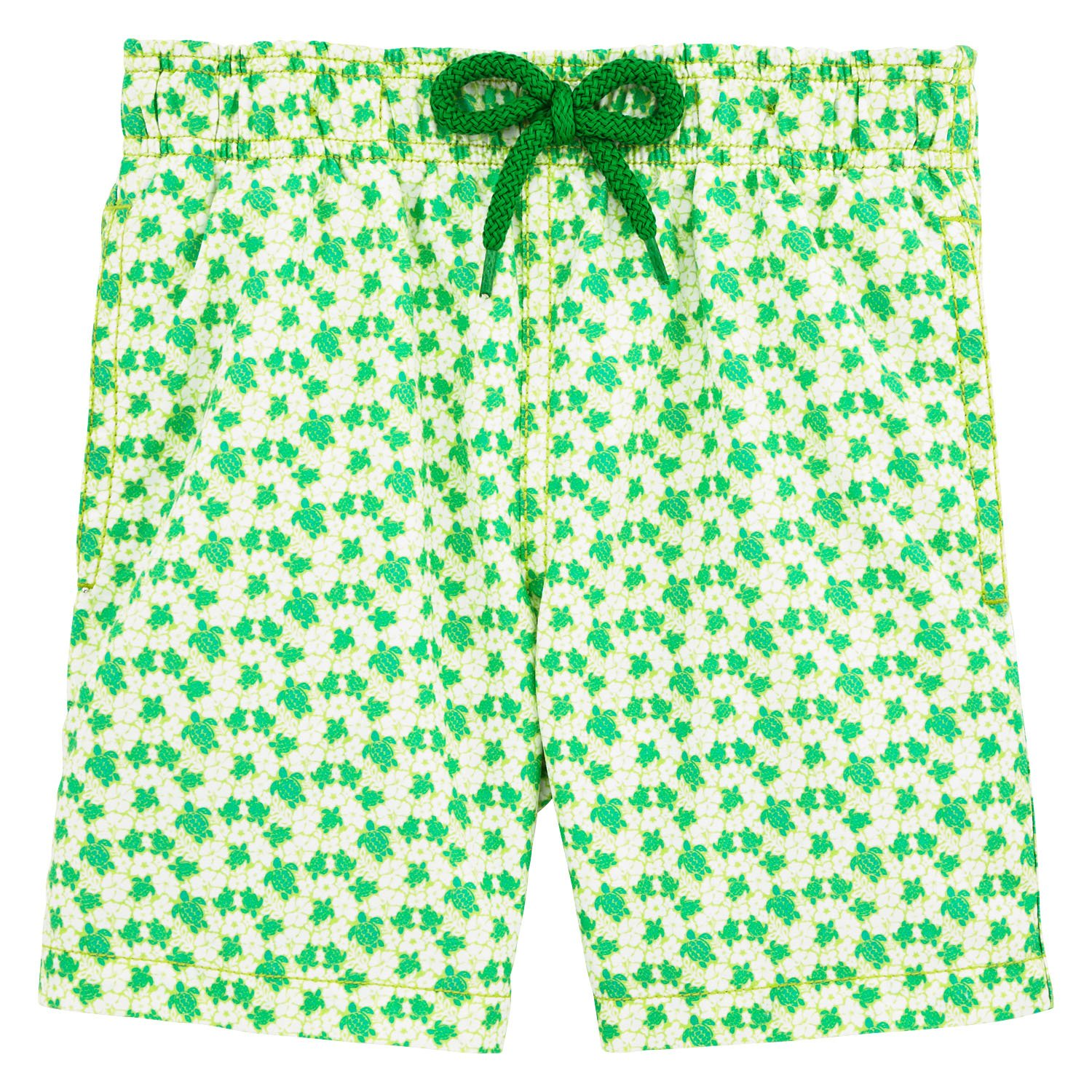 Vilebrequin Micro Turtles Hawaï Swim Shorts - Boys - veronese green - 2Yrs