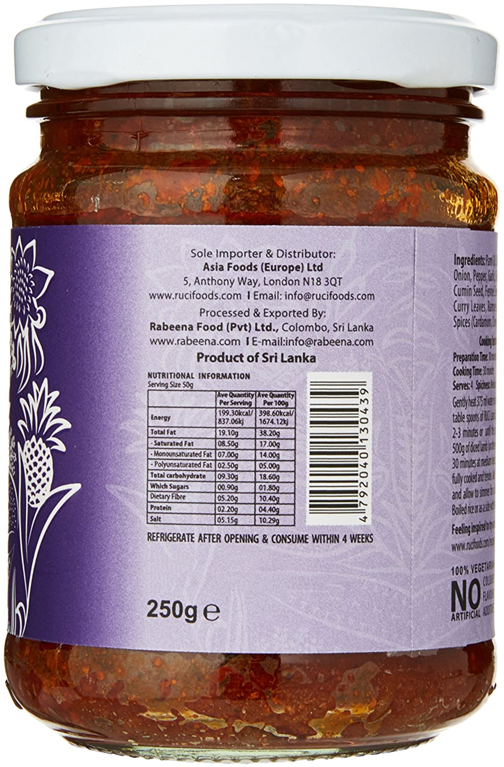RUCI - Taste of Sri Lanka Lamb Curry Paste