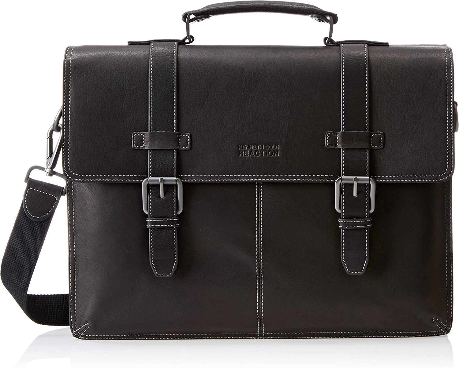 Kenneth Cole REACTION Colombian Leather Dual Compartment Flapover 13