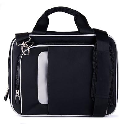 VanGoddy Pin Laptop Messenger Bag for HP EliteBook Folio 1020 G1 12.5 inch Laptops , Jet Black
