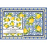 Le Cadeaux CC-PLNP-PAL Palermo Paper Napkins and Paper Placemats, Lemon