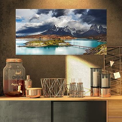 Amazon com: Designart Torres Del Paine Lake Pehoe Canvas