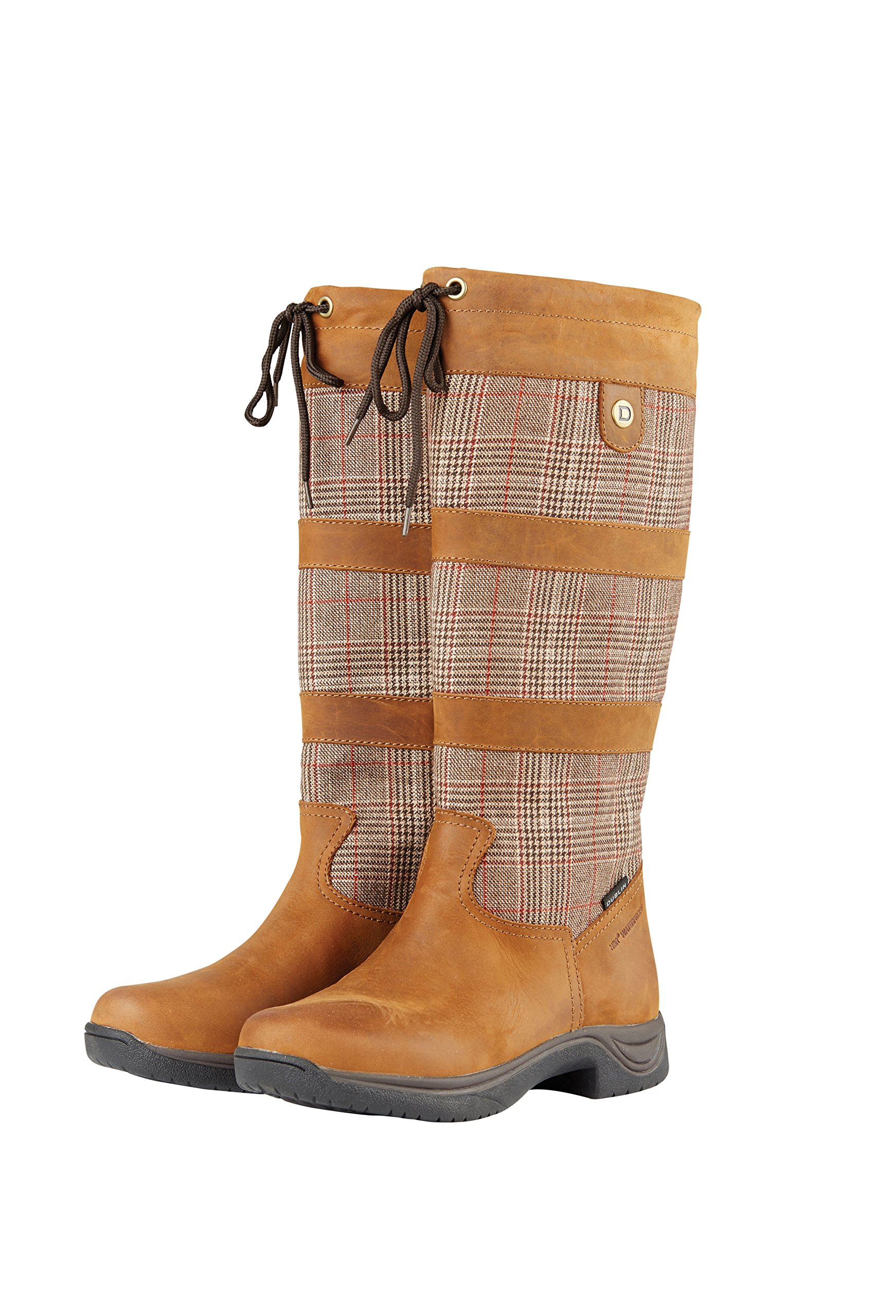 Dublin River Plaid Boots II Brown Ladies 8.5