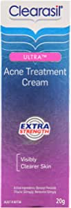 Clearasil Ultra Acne Treatment Extra Strength Face Cream Reduce Pimples, 20g
