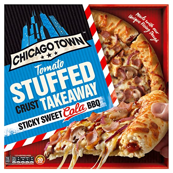 Chicago Town Takeaway Large Stuffed Crust Sticky Sweet Cola Bbq Pizza 650g Frozen