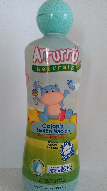 Arrurru Naturals Newborn Cologne for Babies Colonia Recien Nacido Con Proteina De Leche Y Glicerina 13.5 oz