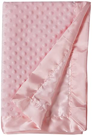 Pink Floral Hudson Baby Mink Blanket with Sherpa Backing One Size