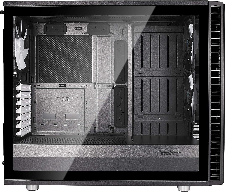 Clear Glass Fractal Design Define S2 White