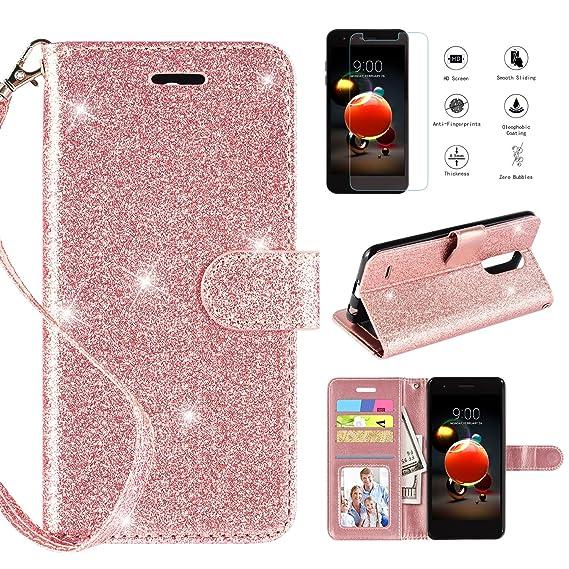 LG Aristo 2 Case,Aristo 3/Tribute Dynasty/Fortune 2/Zone 4/Aristo 2  Plus/Risio 3/K8+/Ponenix 4/Rebel 4/Tribute Empire Phone Case W Screen  Protector