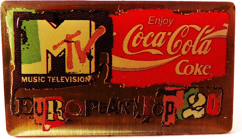 Pin 15 x 15 mm M-Tv Musiksender Coca-Cola