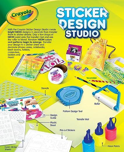 Amazon com crayola sticker design studio sticker maker gift for kids ages 8 9 10 11 12 toys games