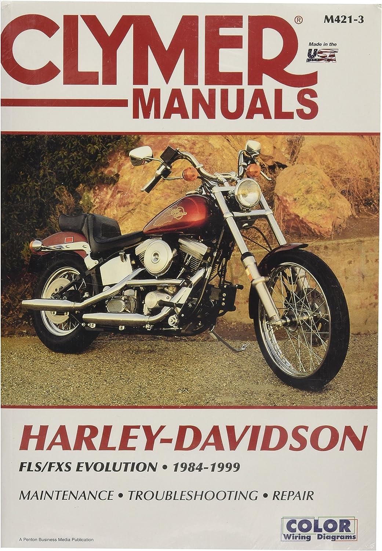 harley davidson gas tank wiring amazon com clymer softail repair manual m4213 automotive  clymer softail repair manual m4213