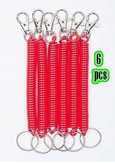 Amazon.com: Pack de 5 llaveros de plástico flexible a prueba ...