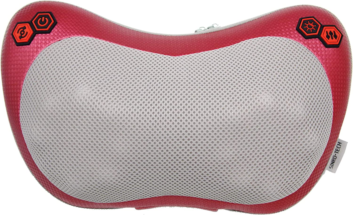 Father`s Day Gifts,Shiatsu Back and Neck Massage Pillow with Heat,Kneading Massager with 16 Rollers nodes for Shoulders,Legs,Feet,Hands,Use at Home,Office,Chair and Car.