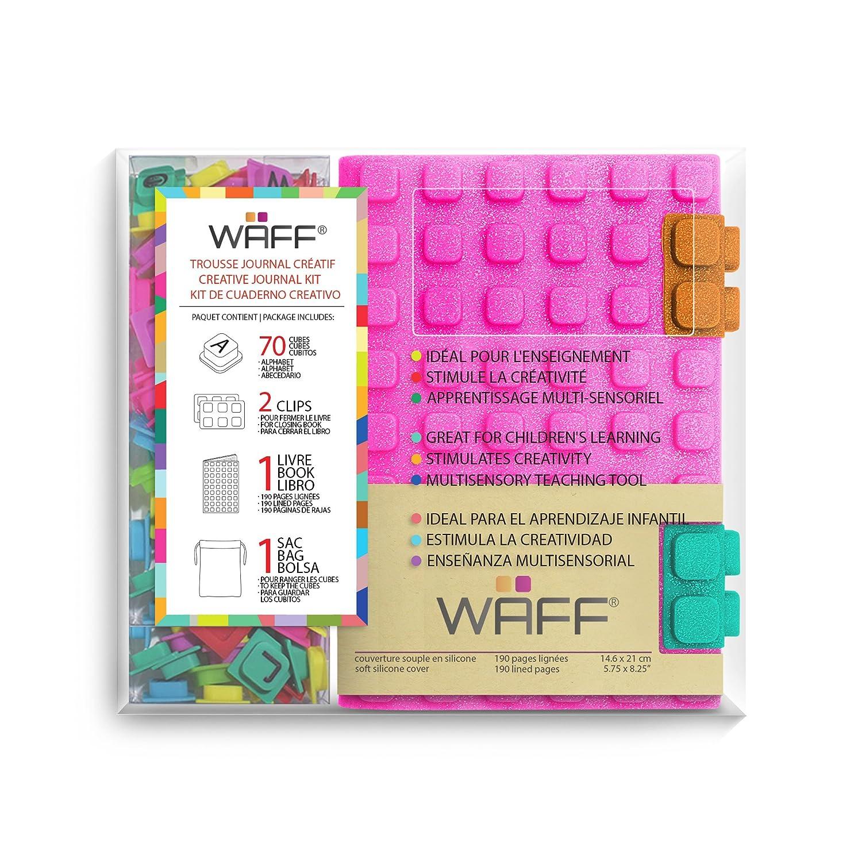 Waff - 60036 - Agendas Créatif Combo A6, Glitter Fuchsia Aladine KG4206CMB