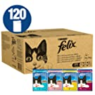 Felix Cat Pouches Fish and Poultry In Jelly and Gravy 100g (120 Pouches)