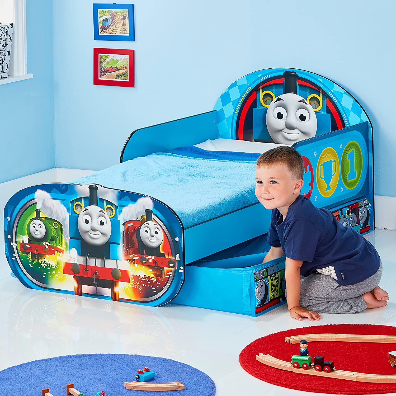 Hello Home Cama Infantil de Madera con Caj/ón Inferior 142 x 77 x 63 cm Azul Marino