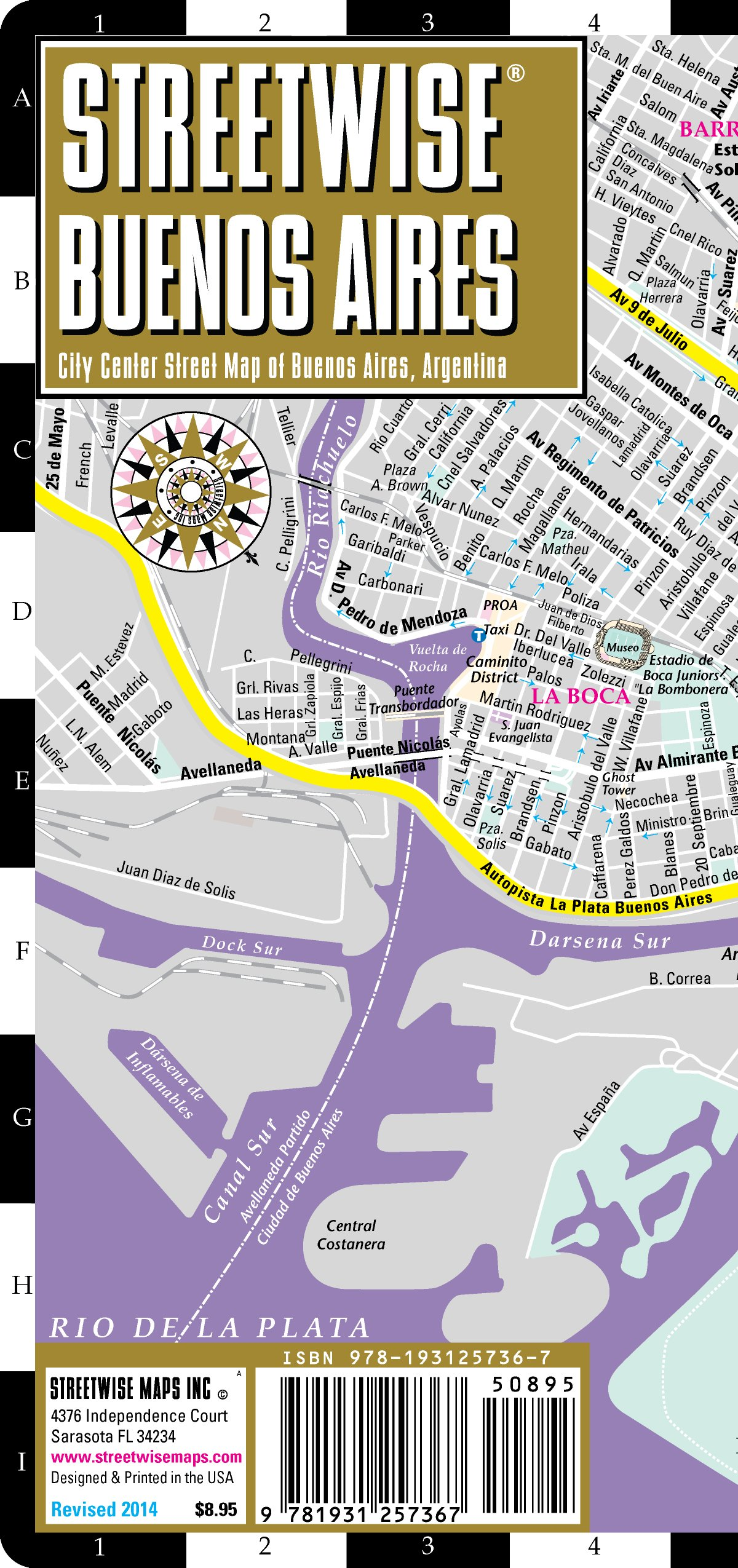 Streetwise Buenos Aires Map Laminated product image