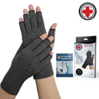 Doctor Developed Arthritis Compression Gloves and DOCTOR WRITTEN HANDBOOK -Relieve Arthritis Symptoms, Raynauds Disease & Carpal Tunnel (Medium)