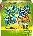 Nabisco Fun Shapes Variety Pack Barnum's Animal Crackers, Teddy Grahams and CHIPS AHOY! Mini, Halloween Treats, 20 - 1 oz Packs