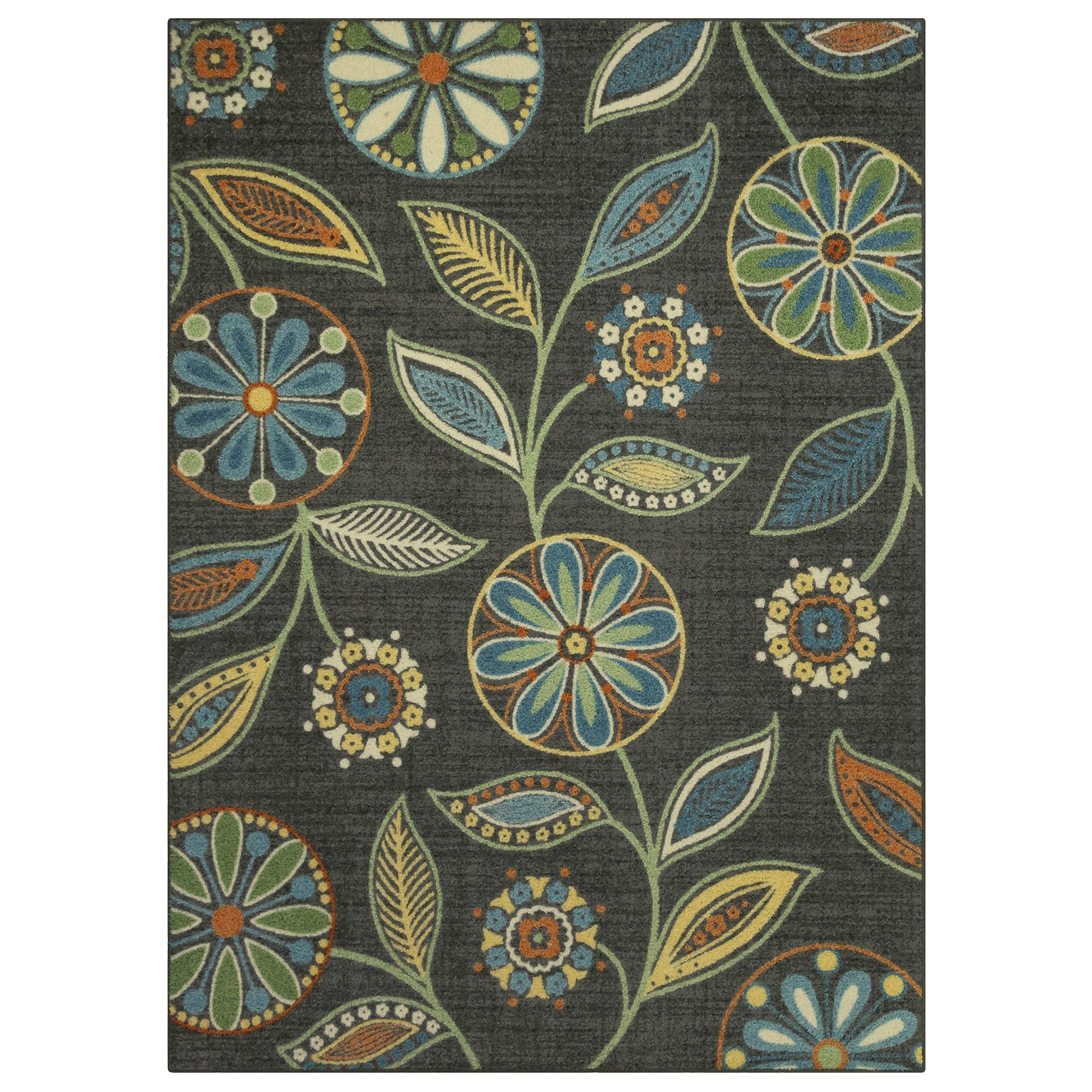 Maples Rugs Reggie Floral Area Rugs for Living Room & Bedroom [Made in USA], Multi, 5 x 7 product image