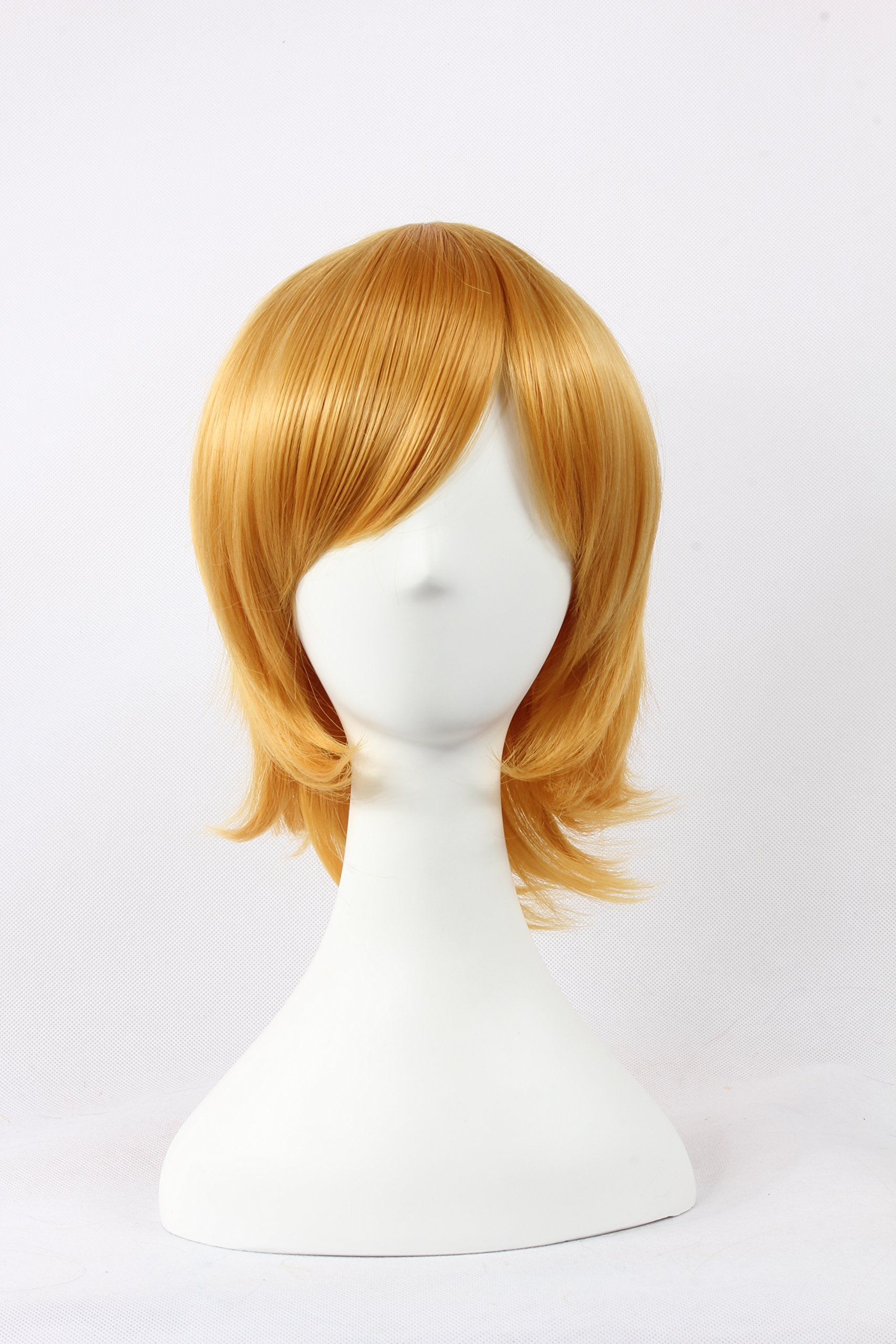 Coolsky Wigs Neon Genesis Evangelion,Light Katekyo Hitman Reborn,Jigoku Shoujo Golden Yellow Hair Cosplay by COOLSKY (Image #1)