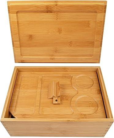 Amazon.com: Caja de almacenamiento de madera con bandeja ...