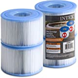 Intex Spa Filter Cartridges [Set of 4] Intex S1 Twin Pack For Intex Spa Filter Pumps - Bundled with (2) SEWANTA Oil…
