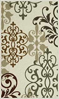 product image for Maples Rugs Kitchen Rug - Eleanor 1'8 x 2'10 Non Skid Washable Throw Rugs [Made in USA] for Entryway and Bedroom, Multi