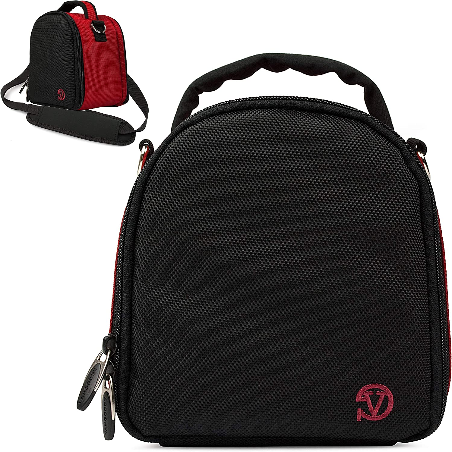 VanGoddy Laurel Fire Red Carrying Case Bag for Canon VIXA Series Camcorders