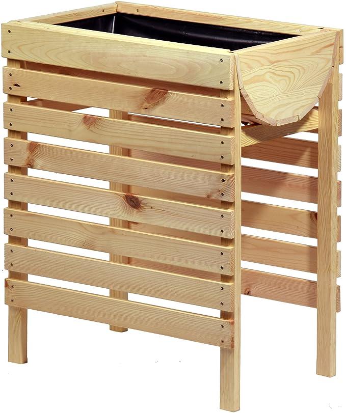 dobar Dekoratives Hochbeet aus Holz (Kiefer): Tischbeet Bausatz, für ...