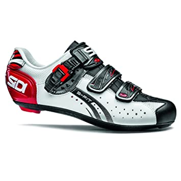 248ce2e91ae3ad Sidi Genius 5 Fit Carbon Road Cycling Shoes White/Black/Red - EU42:  Amazon.co.uk: Sports & Outdoors