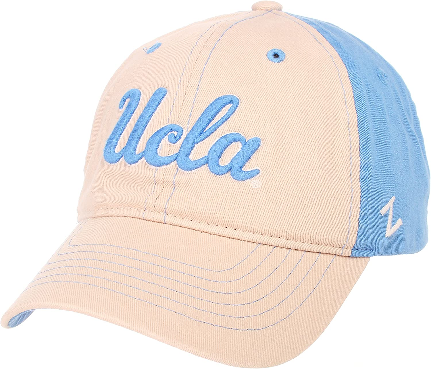 NCAA Zephyr Ucla Bruins Mens The Dean Relaxed Hat Stone//Team Color Adjustable