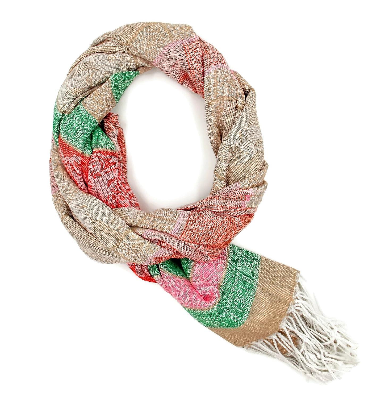 Bangkok scarf Women's Fashion Silky Solid Soft Shawl Wrap Scarf Stole