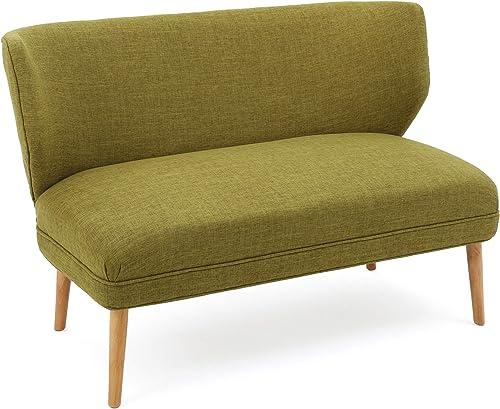 Dumont Mid-Century Modern Fabric Settee