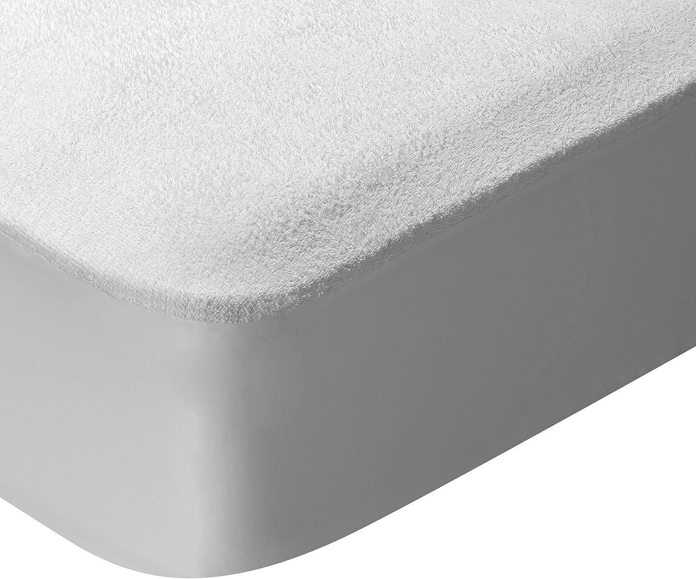 Pikolin Home - Protector de colchón rizo, 100% algodón, impermeable y transpirable, 180x200cm-Cama 180 (Todas las medidas)