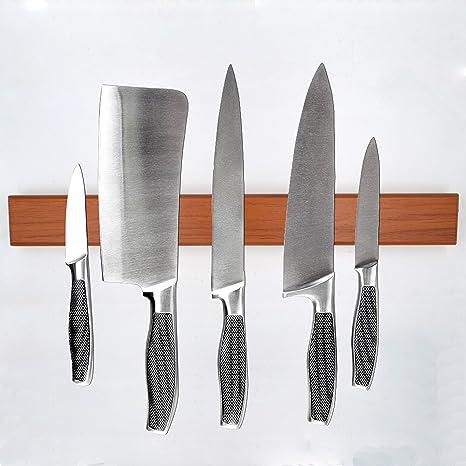 Soporte magnético para cuchillos, madera maciza de madera ...