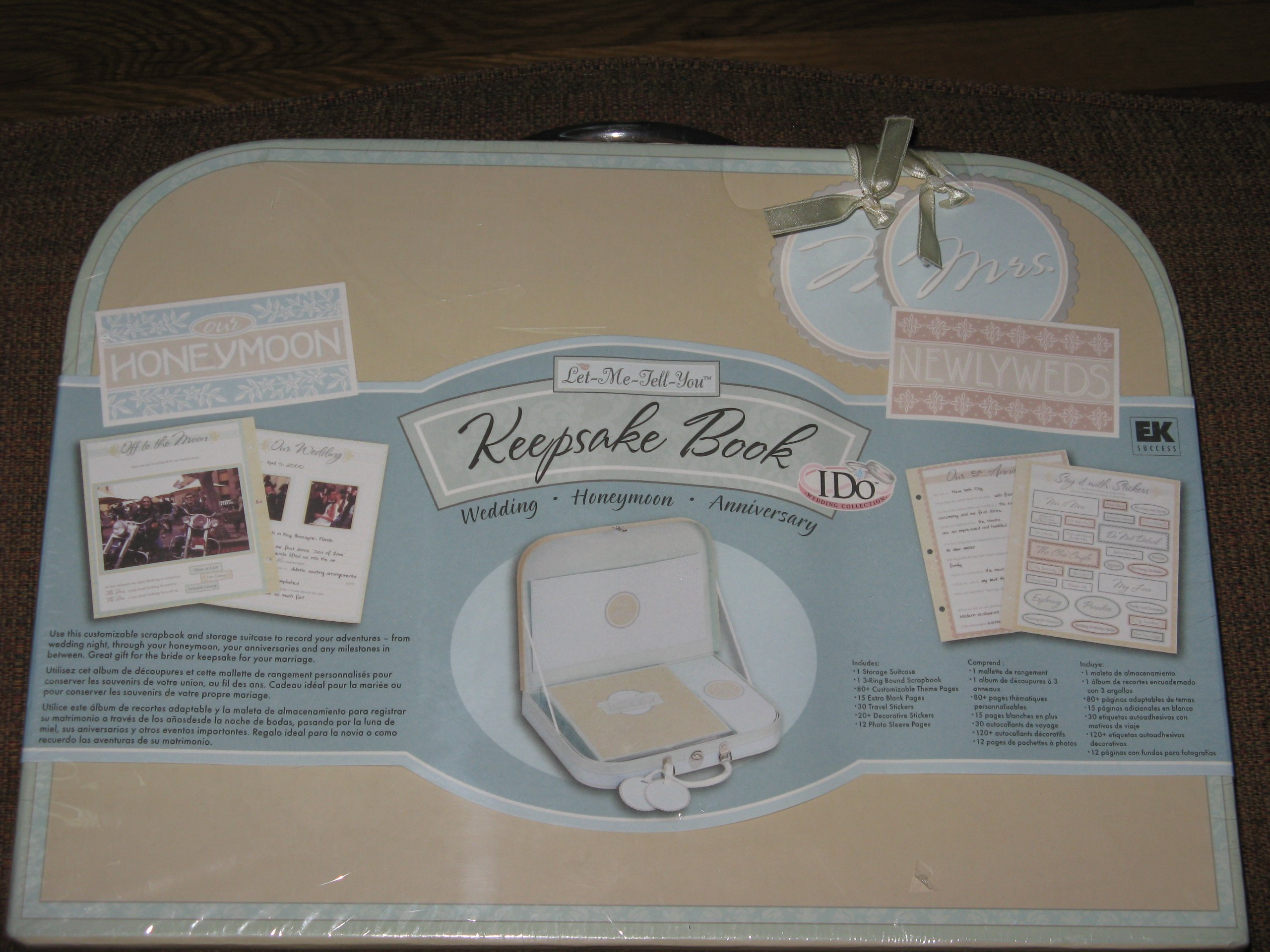 I Do Let-Me-Tell-You Wedding Keepsake Book Kit (Wedding Honeymoon Anniversary) Ring-bound – 2010