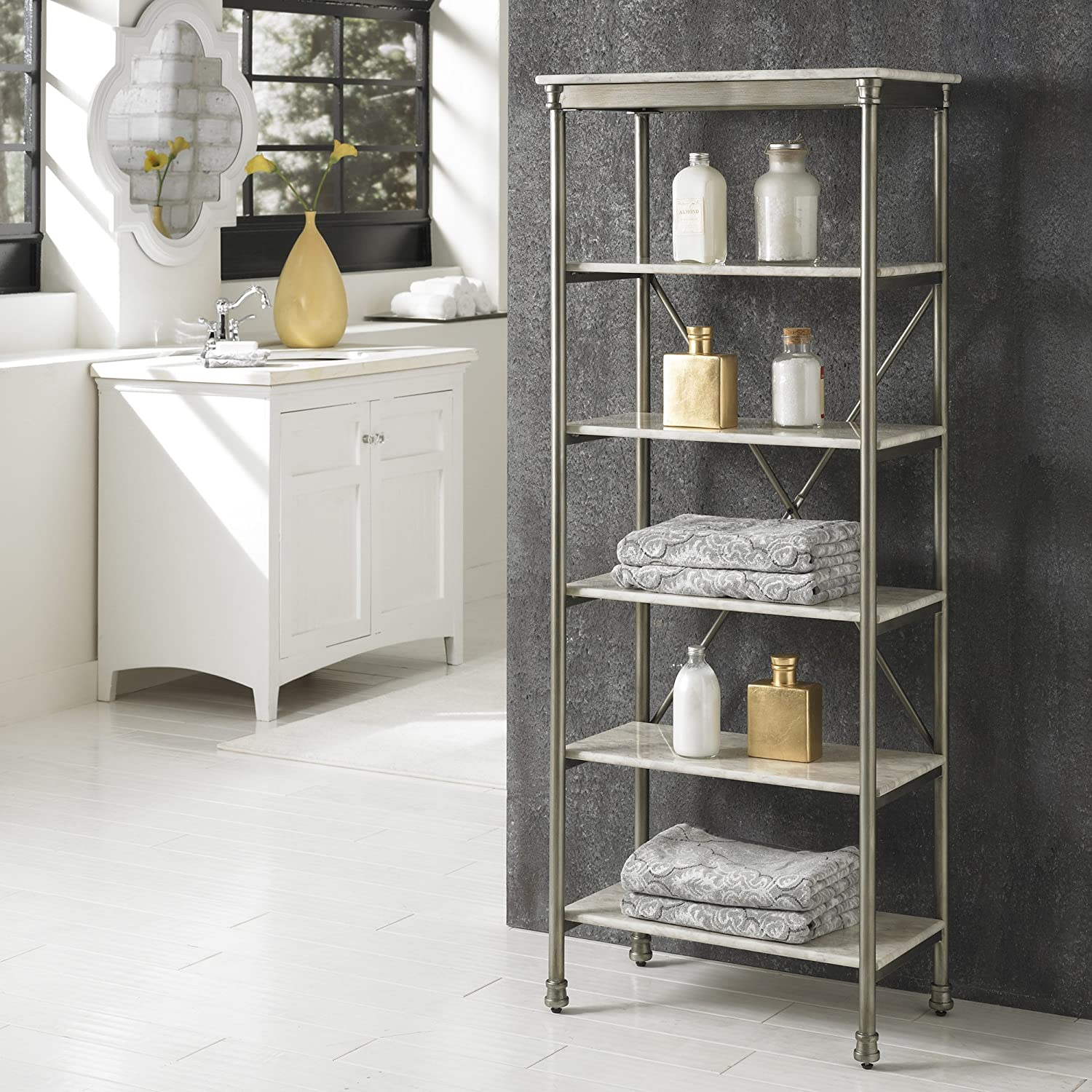 Amazon.com: Home Styles The Orleans over Commode Stand Shelf ...