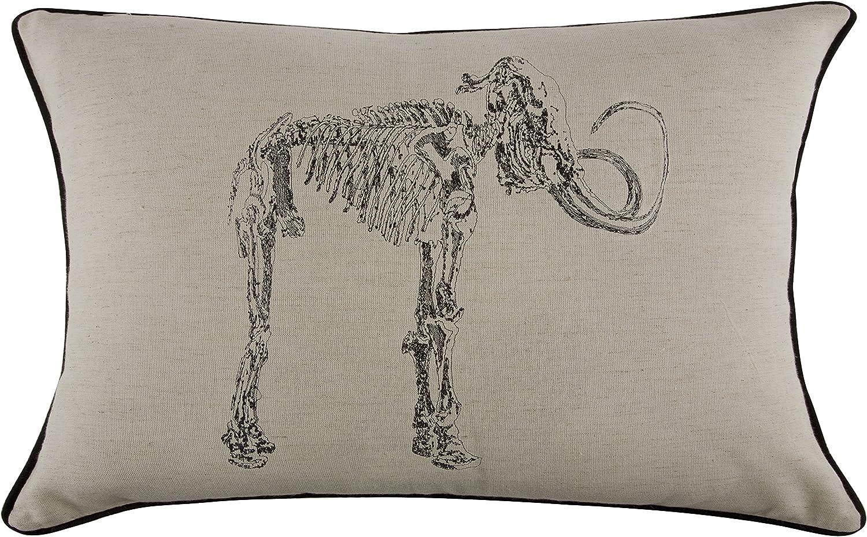 Thomas Paul Mammoth Pillow, 12 by 20-Inch, Ebony
