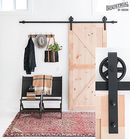 Amazon 8 Foot Big Wheel Sliding Barn Door Hardware Kit Black