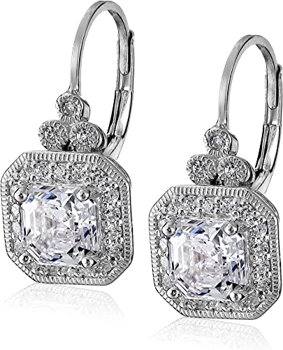 Mia Diamonds 925 Sterling Silver Gold Plated LA Small State Earring