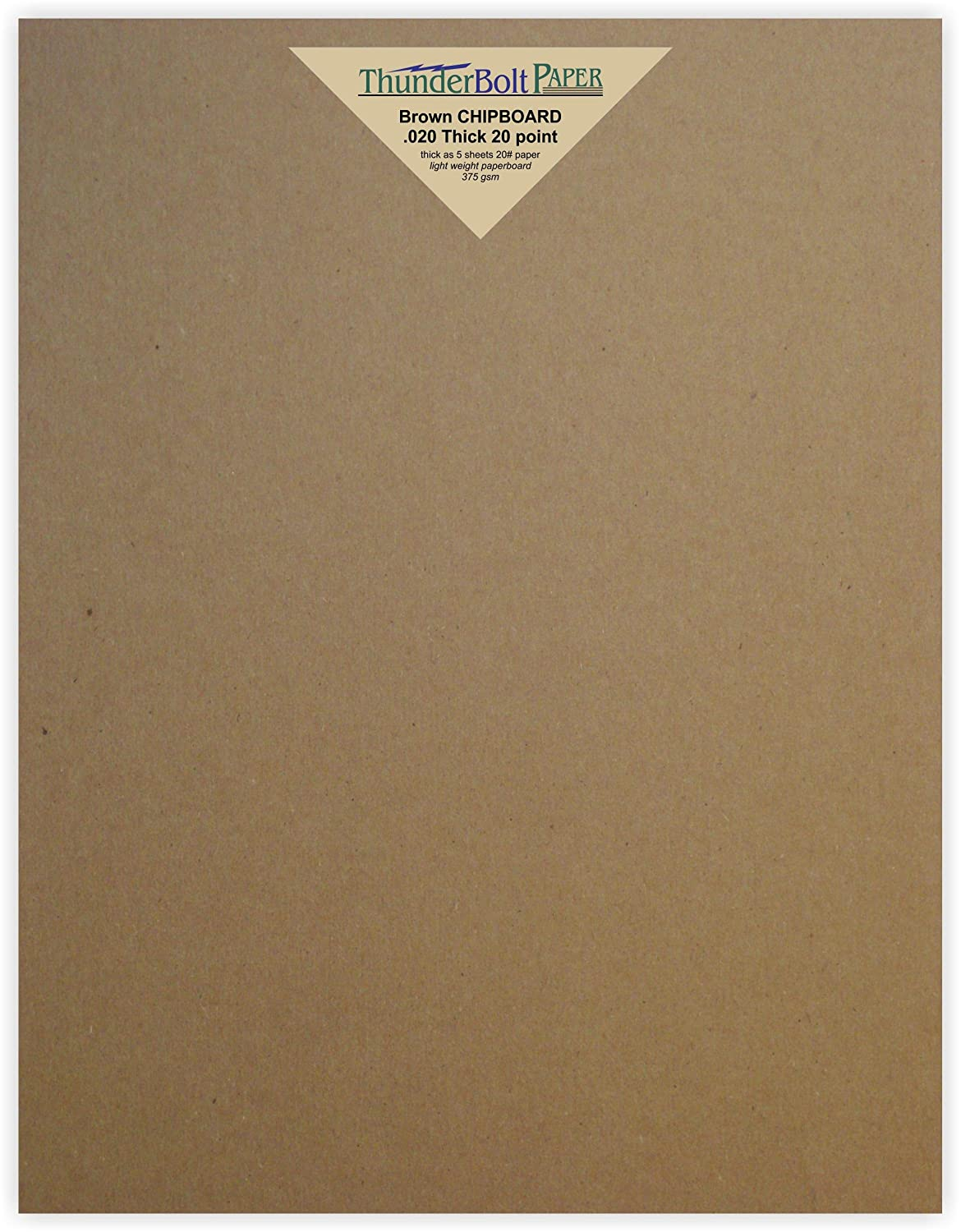 150 Sheets Chipboard 20pt (point) 8 X 10 Inches Light Weight Frame|Photo Size .020 Caliper Thick Cardboard Craft|Ship Brown Kraft Paper Board TBP