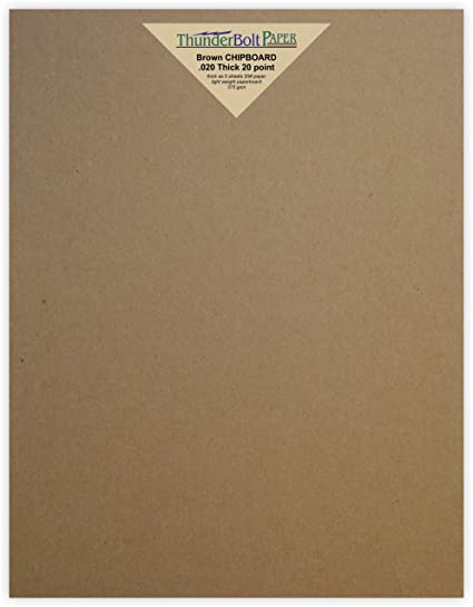 Amazon Com 100 Chipboard 20 Point Thin Sheets 9 X 12 9x12 Inches
