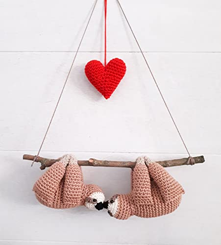 Amazon Stuffed Sloths Couple On A Branch With Red Heart Cute