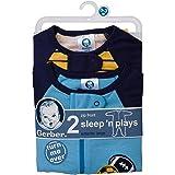 Gerber Baby Boys' 2 Pack Zip Front Sleep 'n