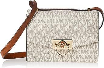 Michael Kors Women's Hendrix X-Small logo convertible cross body bag - Vanilla/Acorn