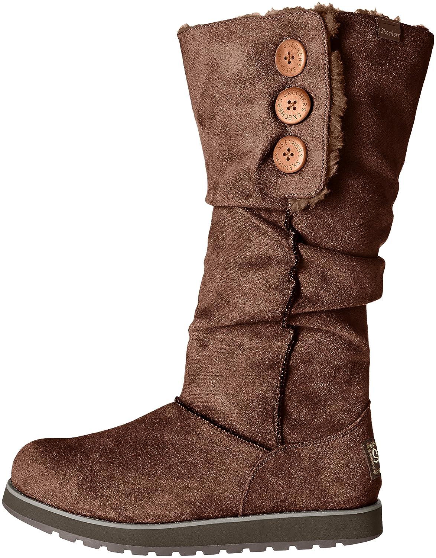 Skechers Women's Keepsakes-Big Button Slouch Tall B(M) Winter Boot B01DW6S8FM 7 B(M) Tall US|Chocolate 87b7f1