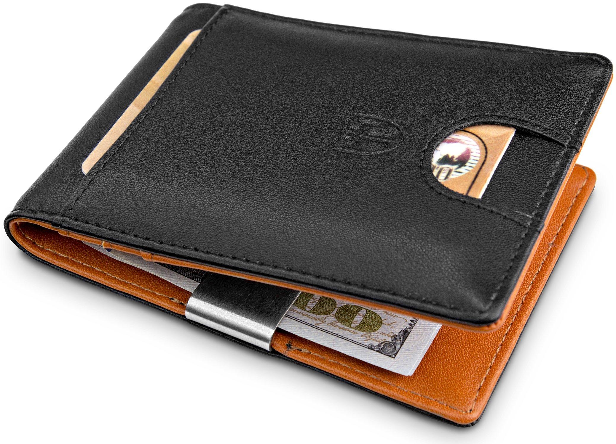 TRAVANDO Money Clip Wallet''SYDNEY'' RFID Blocking Wallet - 4 Card Pockets - Mini Credit Card Holder - Travel Slim Wallet - Minimalist Bifold Wallet for Men with Gift Box